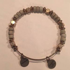 ALEX AND ANI Wood beaded bangle.